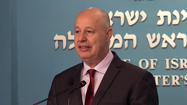 Minister Hanegbi (Photo: Ohad Zwigenberg)