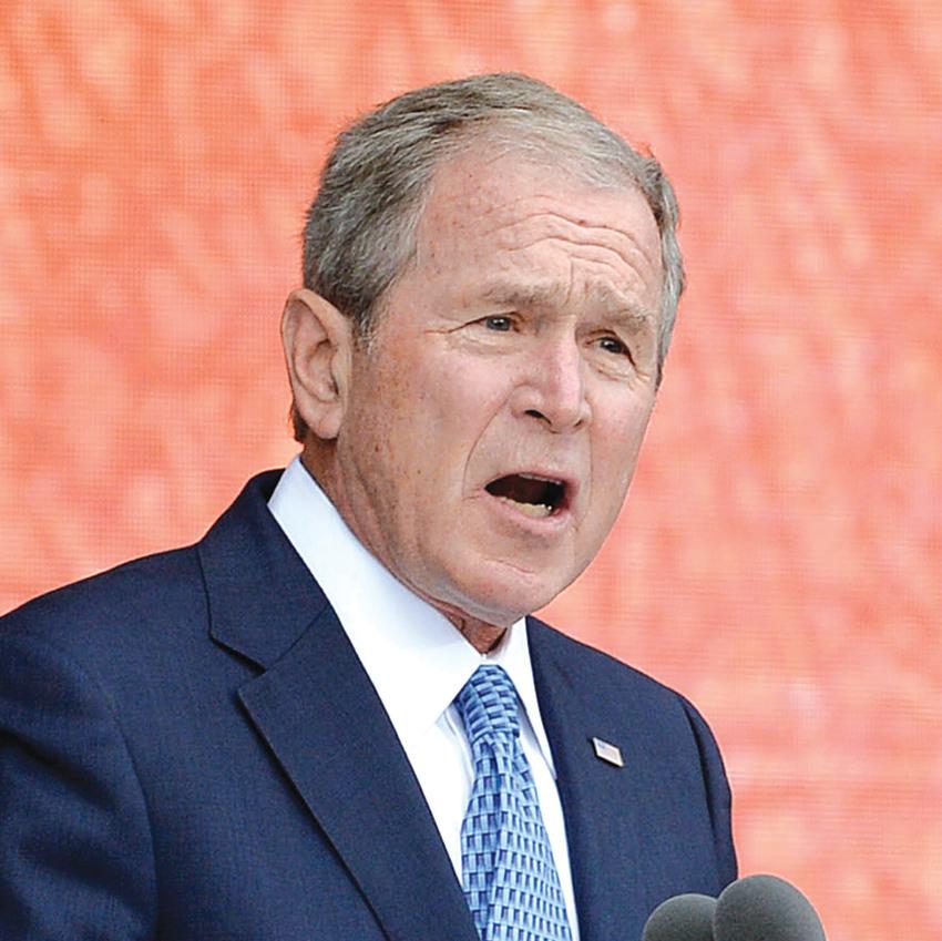 """נשיא ארה""""ב לשעבר, ג'ורג' בוש"""