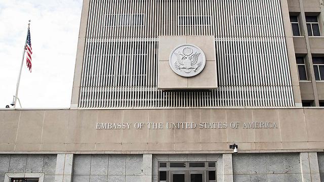 US Embassy to Israel in Tel Aviv (Photo: AFP) (Photo: AFP)