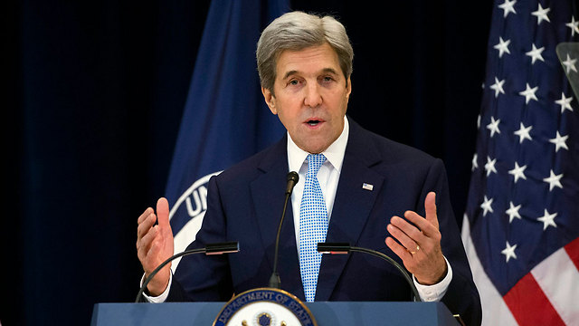 US Secretary of State Kerry speaking at the State Department (Photo: EPA)