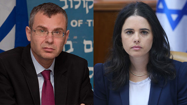Mandelblit said the Levin (L)-Shaked committee's drafting of the law may go forward after certain sensitive positions were removed from it purview (Photo: Alex Kolomoisky, Ido Erez)