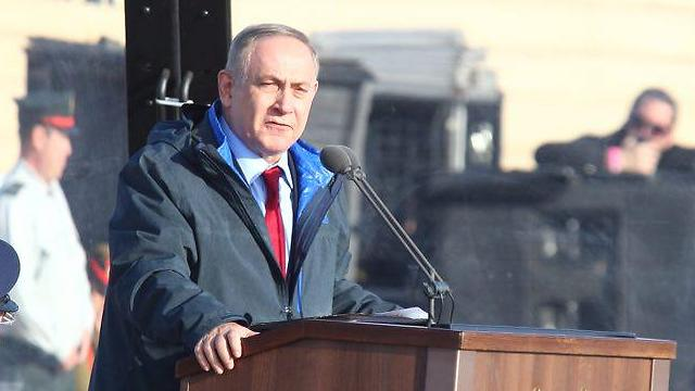 Prime Minister Netanyahu at the pilots' closing ceremony (Photo: Motti Kimchi)