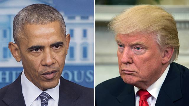 Obama (L) and Trump (Photo: AFP)