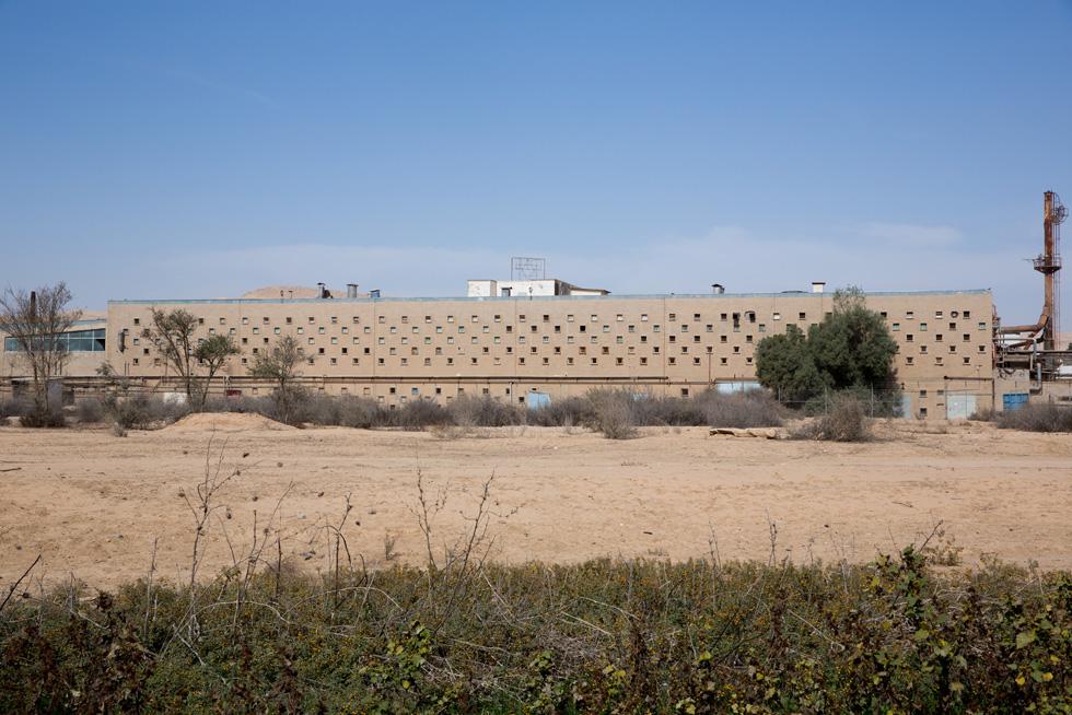 החזיתות המשמעותיות של מבנה המפעל, אלו שמקנות לו את ייחודיותו האדריכלית, הן חזיתות הבטון שפונות למערב ולדרום. חלונות בטון מרובעים מחררים אותן. עם השנים, הפכו החזיתות הפונקציונאליות האלה לסימן ההיכר של המבנה (צילום: דור נבו)