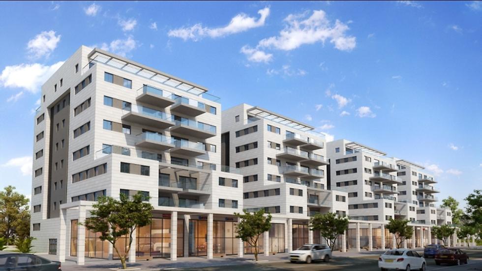 הדמייה של פרויקט השכרה ארוכת טווח בשכונת המשתלה בתל אביב (אסף פרץ)