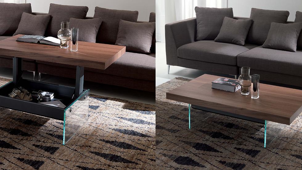מימין: שולחן סלון, משמאל: פינת עבודה. באדיבות Milano smart living   (צילום: punto zero)