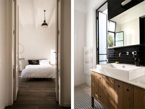 אחד מחדרי הרחצה, והחדר השני (צילום: עדי גלעד)