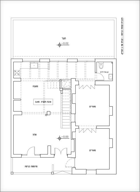 תוכנית קומת הכניסה, לפני השיפוץ (תוכנית: נגה פאוסט)