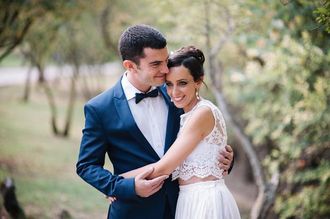 """בחתונה עם נדב. """"הוא קיבל את המציאות הזו באהבה ותמך בה"""" (צילום: ליאור והדס צלמים)"""