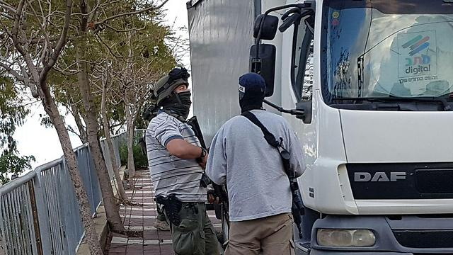 Security forces in Haifa