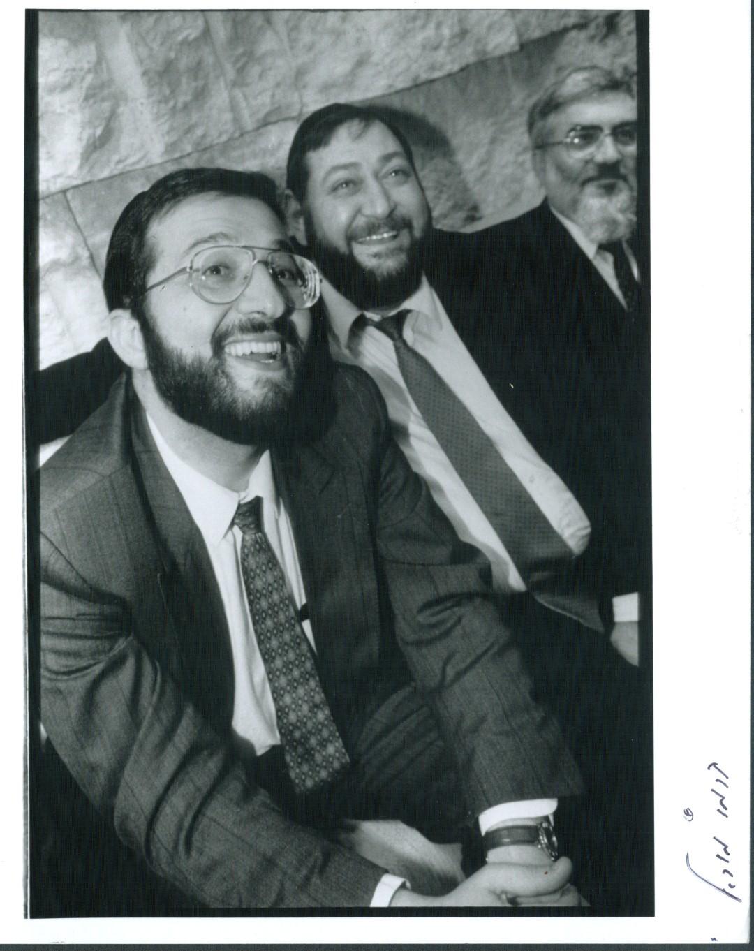 """משמאל: שר הפנים אריה דרעי, ח""""כ יאיר לוי ושר התקשורת פנחסי (צילום: מיכאל קרמר)"""