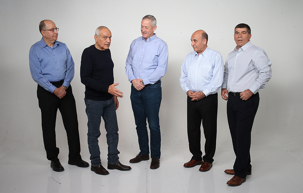 The former IDF chiefs: Ya'alon, Halutz, Gantz, Mofaz and Ashkenazi (Photo: Tomeriko)