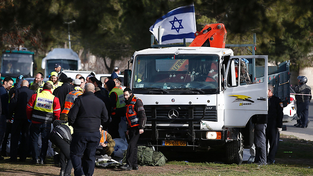 The truck used to carry out the attack (Photo: AFP) (Photo: AFP)