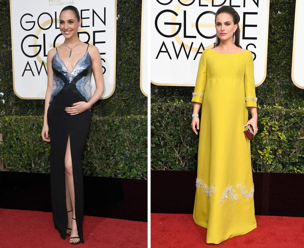 היריון עם סגנון: נטלי פורטמן וגל גדות בטקס גלובוס הזהב (צלום: Gettyimages)