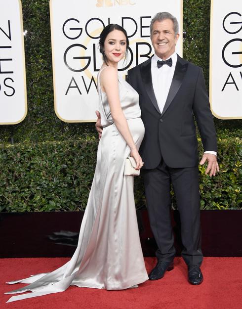 מל גיבסון ובת זוגו ההריונית רוזלינד רוס, הצעירה ממנו ב-34 שנה (צלום: Gettyimages)
