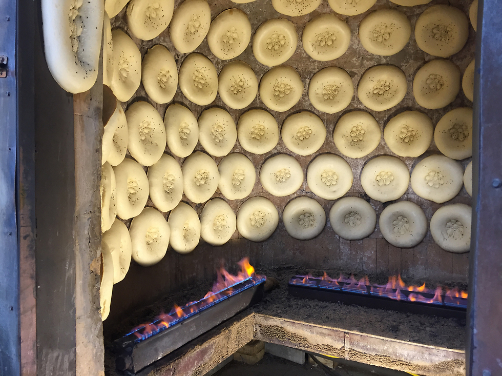 התנור במאפייה הבוכרית, שוק התקווה (צילום: גיא גמזו)