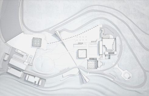 הטופוגרפיה של המתחם העתידי. מכל חפור באדמה (תוכניות: סקורקא אדריכלים)
