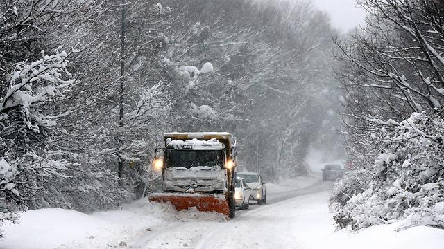 שלג כבד בטורקיה, היום בצהריים (צילום: EPA) (צילום: EPA)
