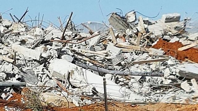 אחד הבתים שנהרס השבוע ()
