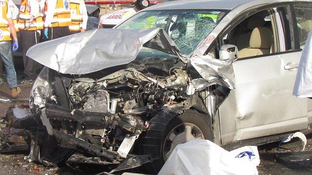 אפריל 2013: זירת התאונה בנשר (צילום: alarab.net)