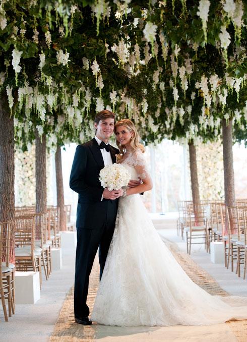 הנישואים שינו את חייה, ואת סגנונה. חתונתם של טראמפ וקושנר (צילום: Gettyimages)