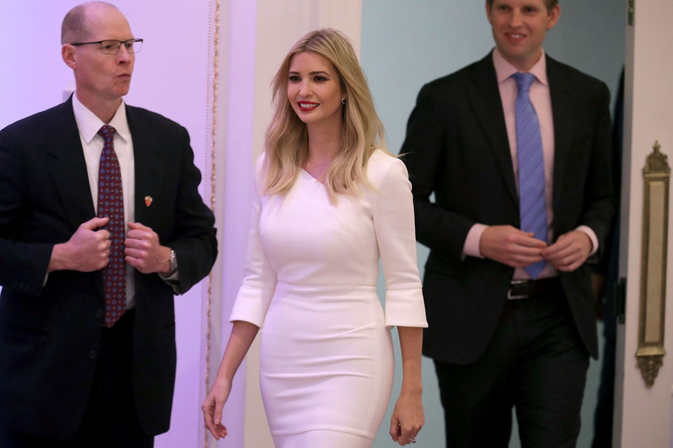 נתפשת כאשת עסקים מצליחה, אשת משפחה למופת, אישה ממולחת, יפה, שקולה ורהוטה. איוונקה טראמפ (צילום: Gettyimages)
