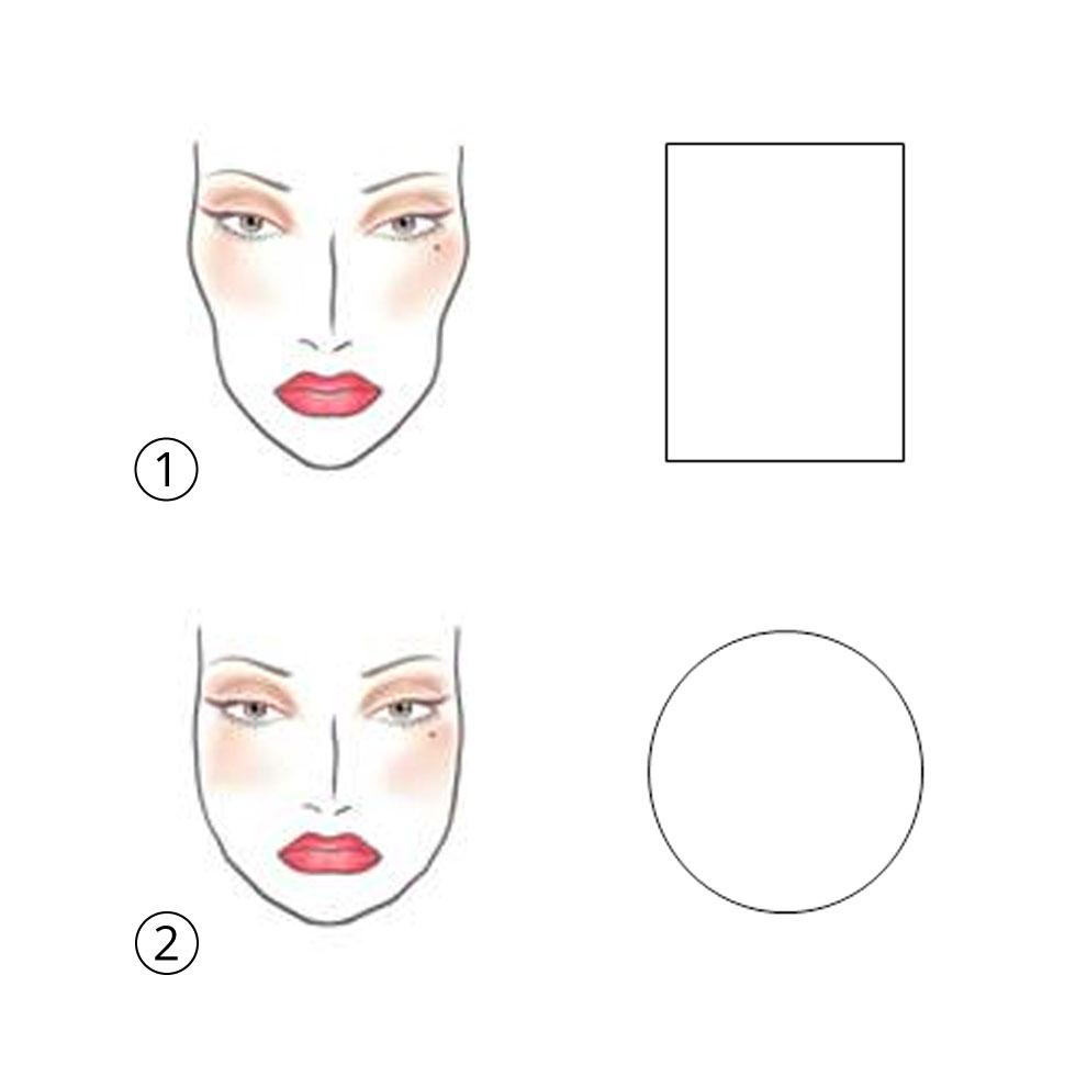 מבנה ארוך ומבלני (בשורה העליונה) מול מבנה עגול (בשורה התחתונה) ()