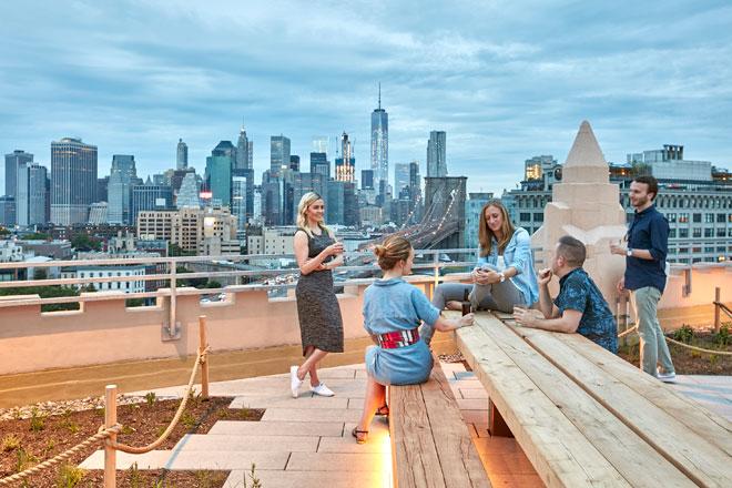 אבל הנוף הוא בהחלט ייחודי (צילום: © Garrett Rowland, courtesy of Gensler)