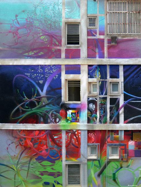 ציור קיר על בניין ישן במתחם (צילום: קז'ישטוף סירוץ' בשיתוף המכון הפולני ונירלט)