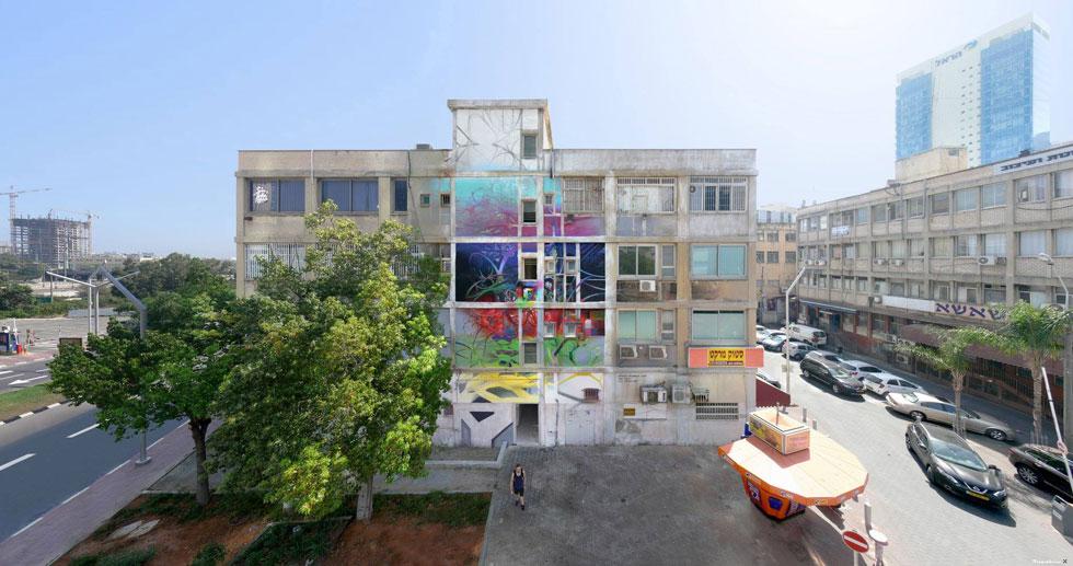 ציור קיר על מבנה ישן. החלחול של הפלייסמייקינג לישראל הדרגתי (צילום: קז'ישטוף סירוץ' בשיתוף המכון הפולני ונירלט)