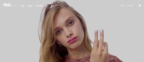 מעתה הוא מגדיר עצמו כאישה. סתיו סטרשקו בקמפיין של Milk Makeup  (צילום: מתוך milk makeup.com)