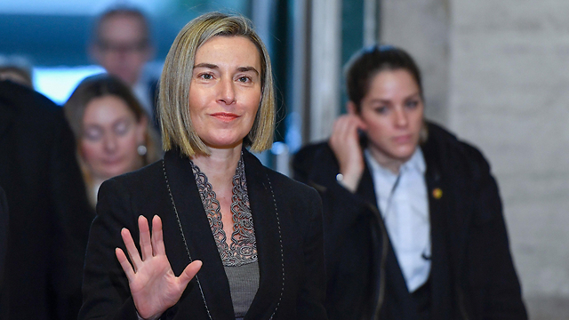 EU foreign policy chief Federica Mogherini says Netanyahu's presentation will be assessed (Photo: AFP)