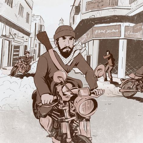 הפנאטים תמיד נעים בקבוצות, מיליציות חמושות על אופנועים. בכל פעם שחולף לידי אופנוען כזה אני נדרך