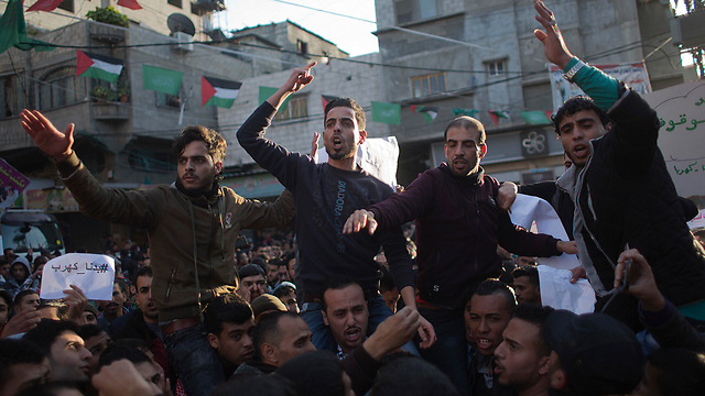 One of last week's protests in Gaza. A sign of things to come (Photo: AP) (Photo: AP)