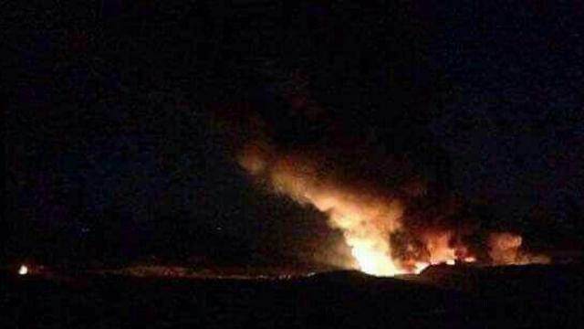 Fire in military air base in Syria after the alleged attack