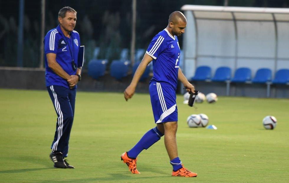 דמארי וגוטמן. המאמן בטוח שההחתמה היא בינגו (צילום: יאיר שגיא) (צילום: יאיר שגיא)