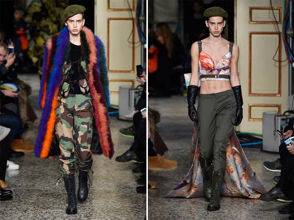 שם חם בענף האופנה הבינלאומי והדארלינג הנוכחית של צלם האופנה מריו טסטינו. שון לוי בתצוגה של מוסקינו (צילום: Gettyimages)