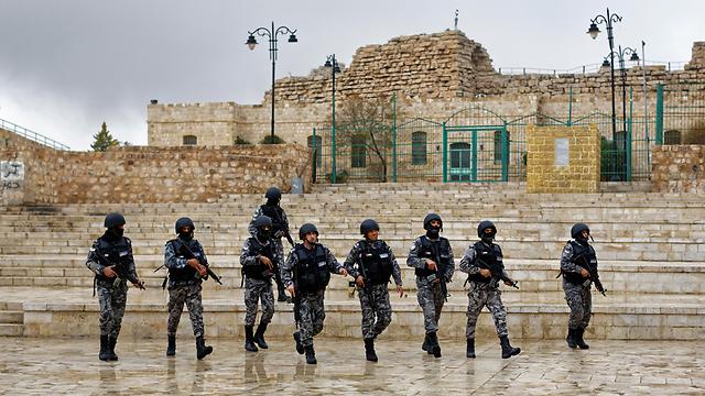 כוחות ביטחון ירדניים (צילום: AP)