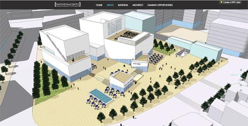 7 דונם של שטחים ציבוריים, שני אולמות, והבטחה לשימוש של קהלים מגוונים ולא רק שוחרי מחול (מתוך relevantdesign.wixsite.com/batsheva)