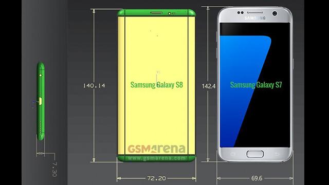 גלאקסי S8 לצד גלאקסי S7 (צילום: GSM Arena) (צילום: GSM Arena)