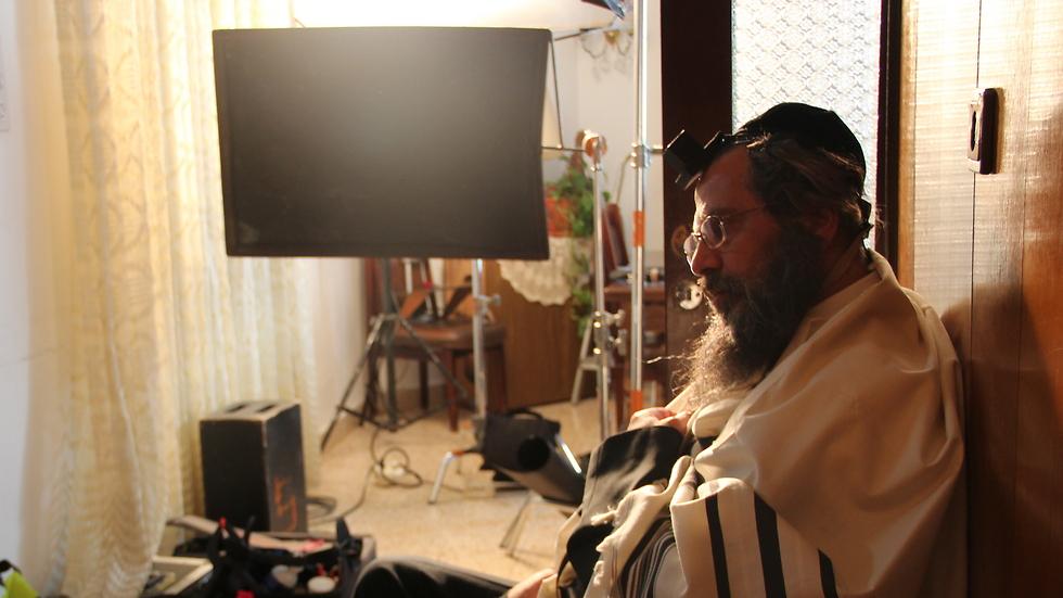 נאטור על הסט (צילום: שי גולדמן) (צילום: שי גולדמן)