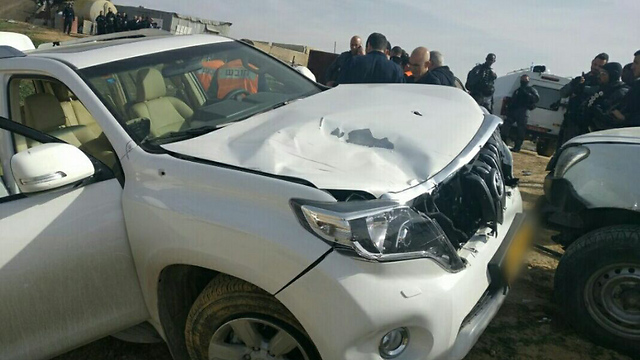 Yaqoub Abu al-Qiyan's vehicle (Photo: Police Spokesperson's Office)