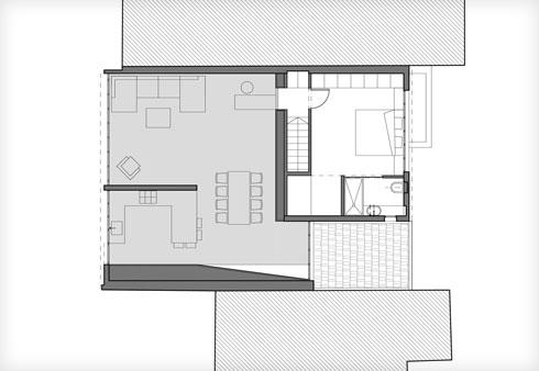תוכנית קומת הגלריה (תוכנית: אמיצי אדריכלים)