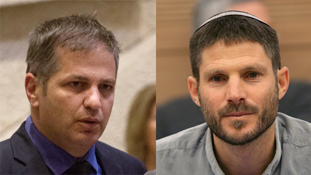 MKs Kisch (L) and Smotrich (Photo: Alex Kolomoisky)