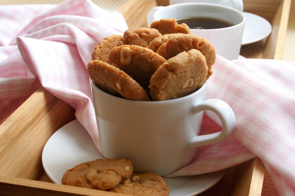 עוגיות חמאת בוטנים ללא קמח (צילום: ילנה ויינברג)