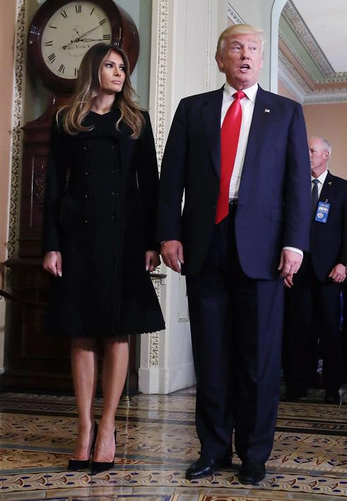 """דונלד טראמפ: """"מלניה מעולם לא ביקשה מטום פורד להלביש אותה. היא לא אוהבת אותו ולא את עיצוביו"""" (צילום: Gettyimages)"""