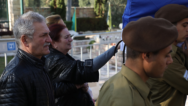 Gregai's mother and stepfather (Photo: Shaul Golan)