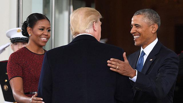 Мишель и Барак Обама с Трампом. Фото: AFP