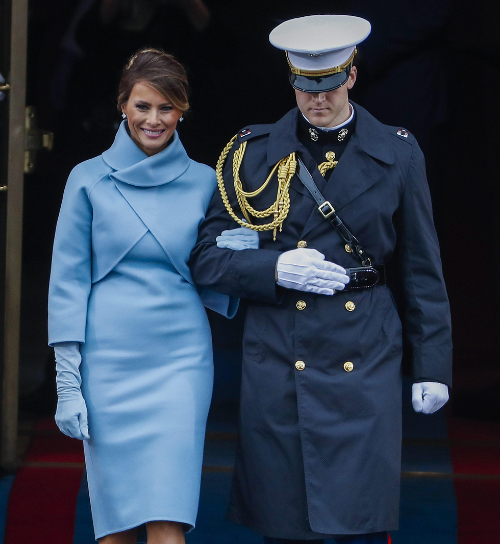 Мелания Трамп на церемонии инаугурации. Фото: EPA