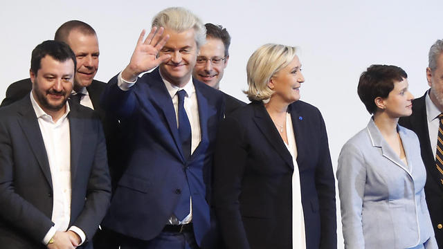 Meeting of European far-right party leaders (Photo: EPA) (Photo: EPA)